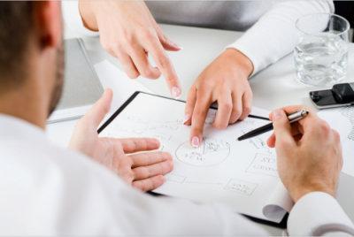 professionals having a meeting
